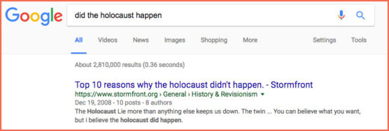 holocaust false news