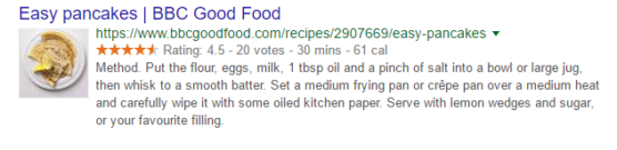 Rich Snippet Recipe Example