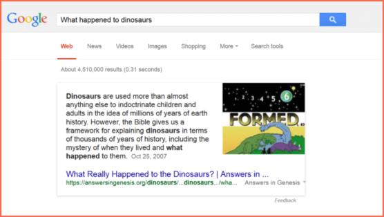 Dinosaur propaganda