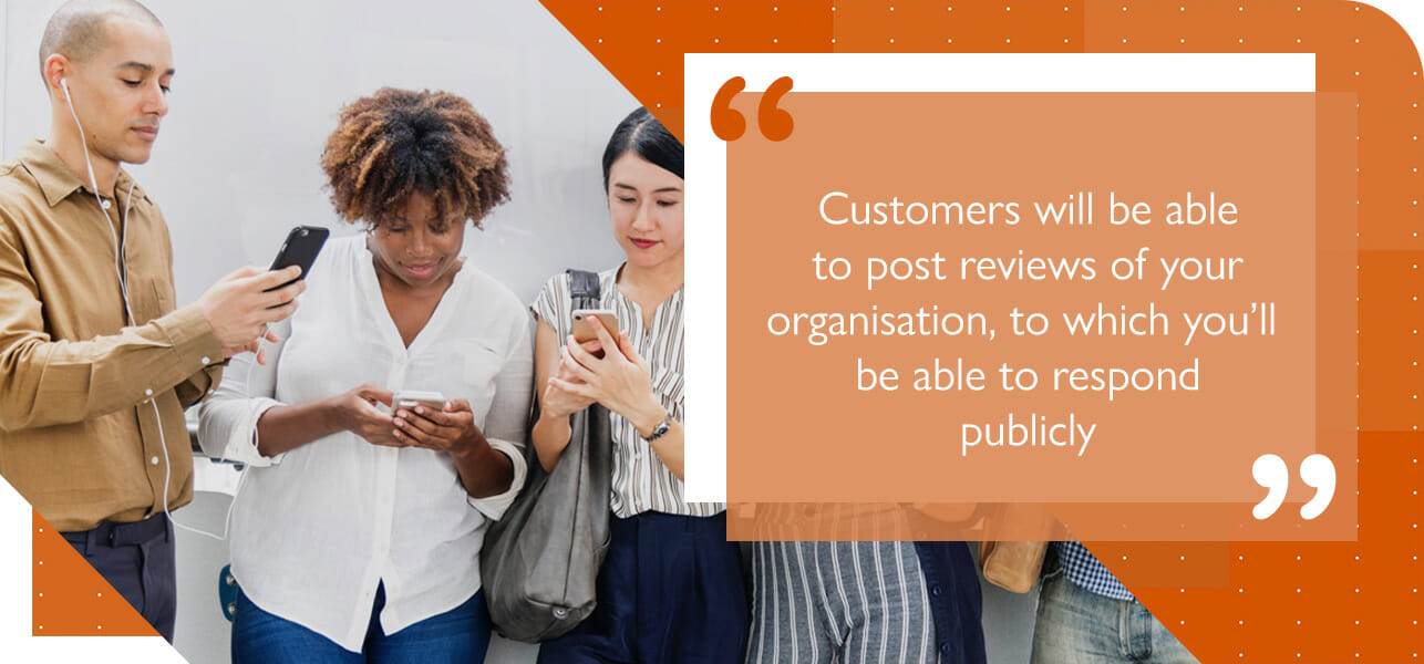 customers can review your business